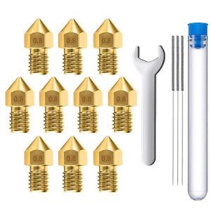 10 Extruder für 3D-Druckerdüsen 0.8mm Messing MK8 für Creality Baureihe Ender