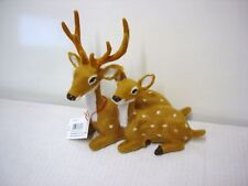 New Sitting Reindeer Deer/Doe Ornament/Figurine Christmas Decorations 17cm