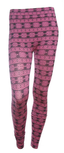 Women Fashion Floral Seamless Skinny Legging Stretchy Fit Pants Trousers