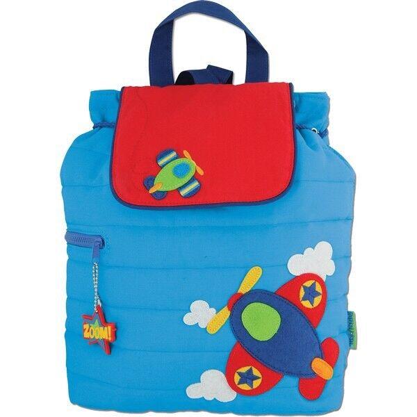 Personalised Stephen Joseph Boys School Backpack Birthday Nursery Bag Tag  Monkey (blue)