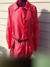 SONIA RYKIEL PARIS light weight black rain coat raincoat XL - Red