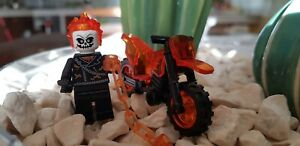 Lego-Fit-Ghost-Rider-Marvel-Cage-moto-robot-figure-LEGO-spiderman-avengers