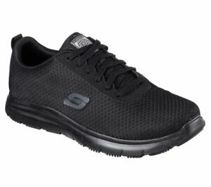 Skechers-Work-Wide-Black-shoes-77125-W-Fit-Men-Slip-Resistant-Memory-Foam-Safety