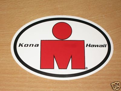 Ironman Big Island Vinyl Sticker Decal triathlon tri 70.3 140.6 m logo hawaii