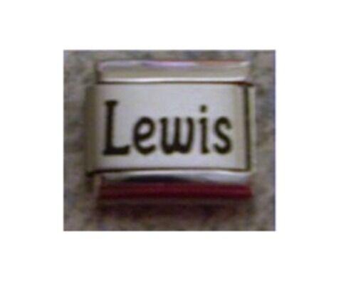 9mm Classic Tamaño Italiano encantos encanto nombres-nombre Lewis
