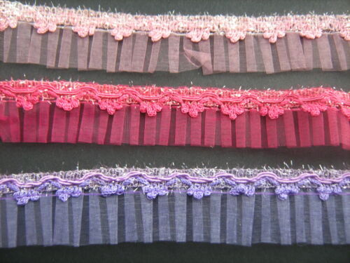 Sparkle Organza plisada Trim Varios Colores sewing//crafts//costume
