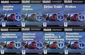 Delmar ase t1 t8 heavy truck test prep manual set home study answers image is loading delmar ase t1 t8 heavy truck test prep fandeluxe Image collections