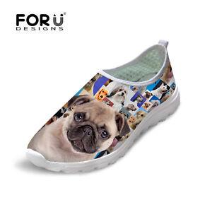 animal pug women's smart casual fashion shoes breathable