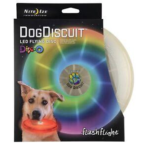 Nite-Ize-Flashflight-Dog-Discuit-LED-Light-Up-Flying-Disc-Disco-Fetch-Frisbee