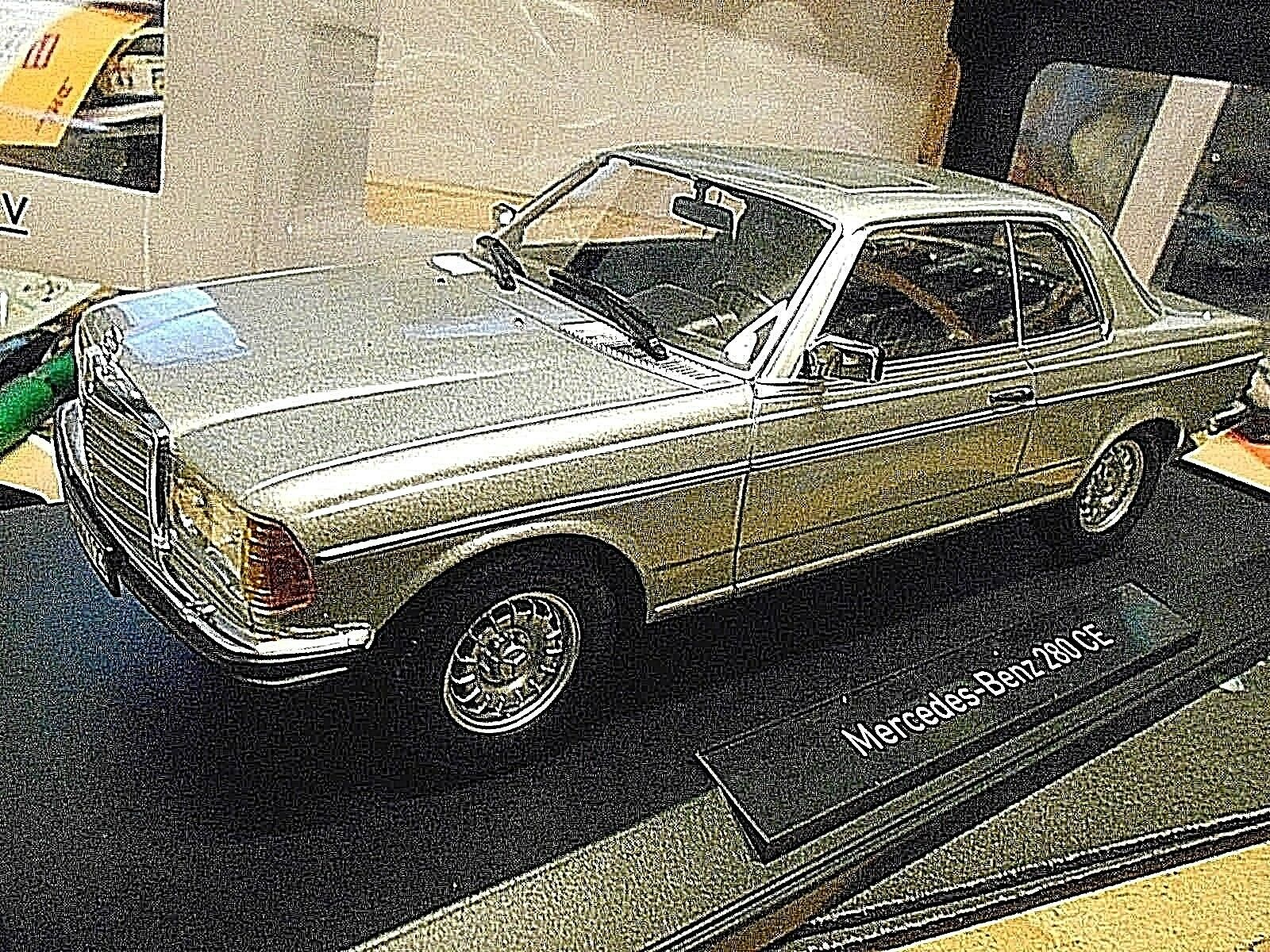 Mercedes w123 Coupé 280 c123 E Classe Argent 1977 - 1982 NOREV RAR 1 18