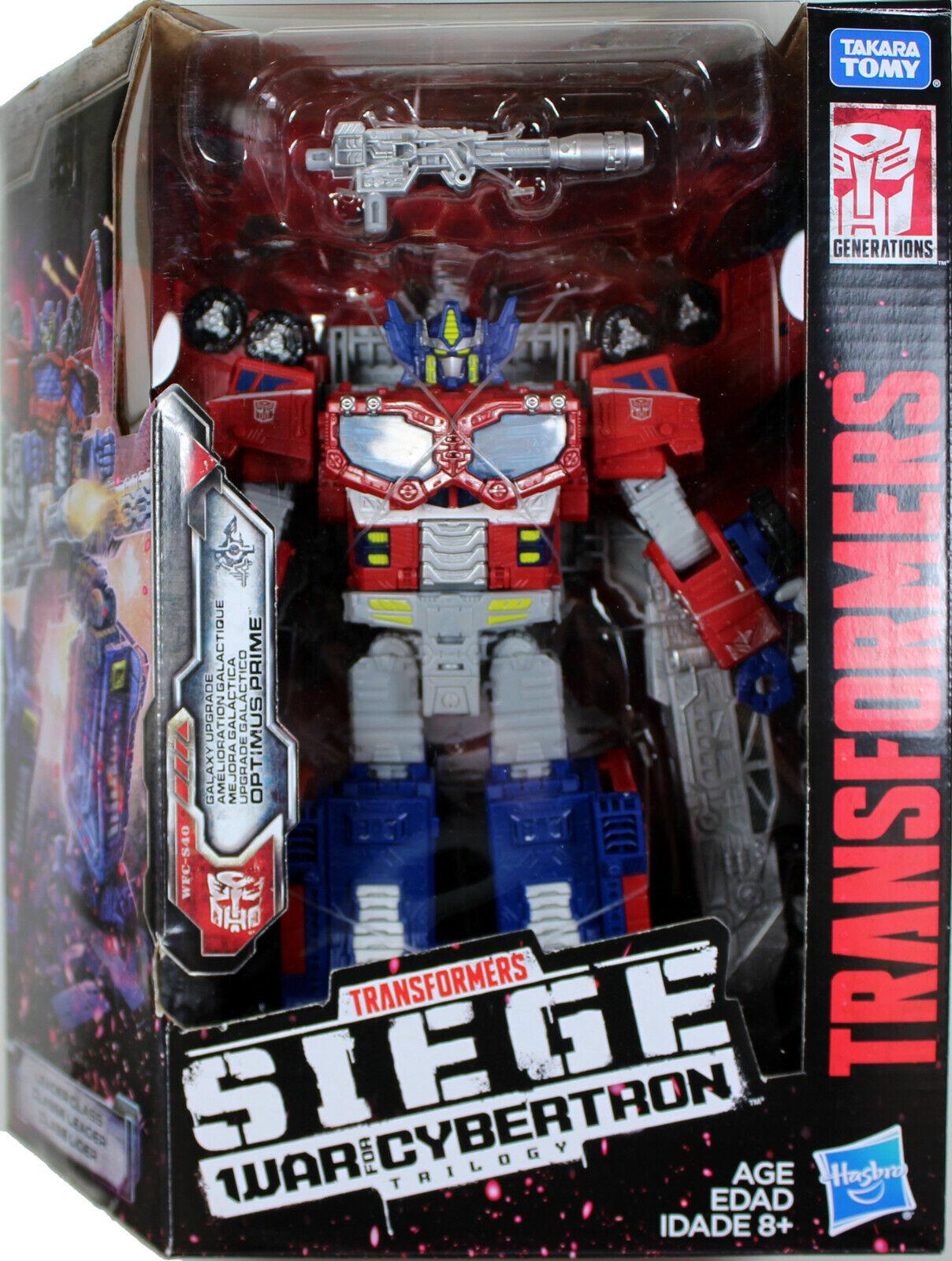 Transformers Optimus Prime Figura de acción líder   asedio  guerra por Cybertron