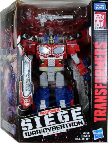 la guerre pour Cybertron Transformers ~ OPTIMUS PRIME Action Figure ~ leader ~ siège