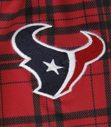 Red NFL Football Juniors Women/'s Houston Texans Plaid Stretch Leggings