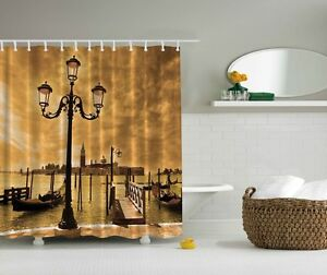 Image Is Loading Cloudy Sky Venice Shower Curtain Italy Gondolas Canal