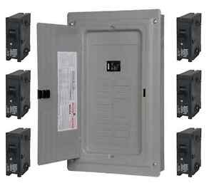 Details about 100-Amp 40-Circuit 20-Space Main Load Center Panel (Includes  6 20-Amp breakers)