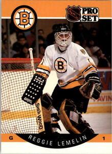 1990-91-PRO-SET-HOCKEY-REGGIE-LEMELIN-CARD-9-BOSTON-BRUINS-NMT-MT-MINT