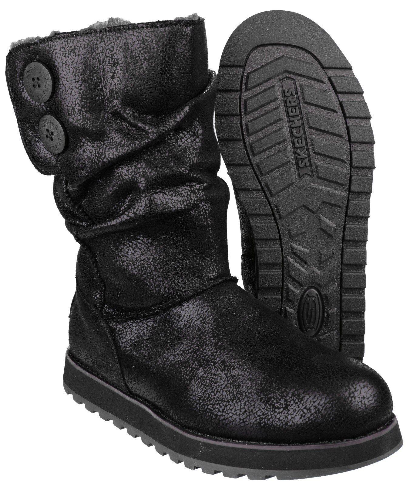 Skechers Keepsakes Esque Damen wadenlang Memory Foam Foam Foam Stiefel Schuhe uk3-8 a46e5a