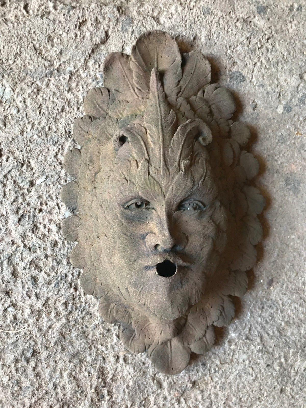 Wandbild Feen Gesicht Wasserspeier Wasserspeier Wasserspeier Kunst Sandstein Antik Look E 27 GRAU 059269