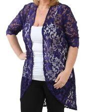 9bd40a092a689 item 7 New Ladies Plus Size 3 4 Sleeve Womens Floral Lace Long Kimono Cardigan  Cover Up -New Ladies Plus Size 3 4 Sleeve Womens Floral Lace Long Kimono ...