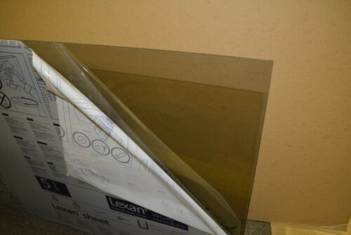 "Tinted Smoked Lexan Sheet 1//2/"" x 24/"" x 16/"" Solar Gray color #130 Polycarbonate"