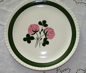 BLUE-RIDGE-SOUTHERN-POTTERIES-SWEET-CLOVER-PATTERN-10-1-4-034-DINNER-PLATE-PINK