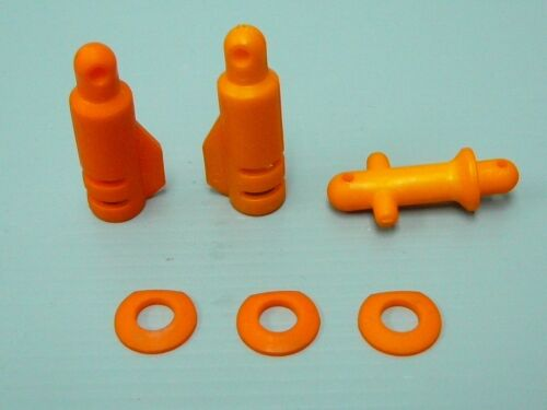 Orange Heavy Duty Nylon Body Shell Fixer Set HPI Baja 5B 5T 5SC KM Rovan 1//5