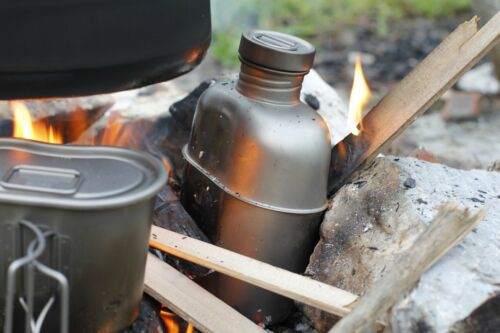 Keith Titanium Military Canteen Camping Hiking Outdoor Bottle Cup 1.8L Large
