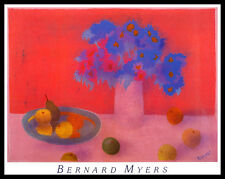 Bernard Myers Red Still Life Poster Bild Kunstdruck im Alurahmen schwarz 56x71cm