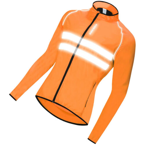 Cycling Bike Bicycle Breathable LongSleeve Jersey Jacket Sportswear Orange