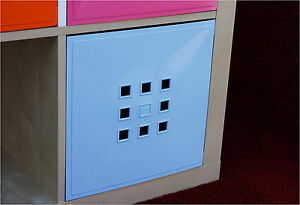 4er set t r einsatz ikea regal expedit kallax flexi mit w rfel xxxl hellblau ebay. Black Bedroom Furniture Sets. Home Design Ideas