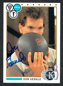 Don-Genalo-10-signed-autograph-auto-1990-Kingpins-PBA-Bowling-Trading-Card
