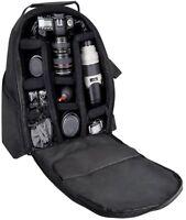 Digital Camera Backpack Tripod Case Bag Storage Canon Rebel Nikon Sony Camcorder