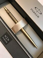 NEW PARKER CLASSIC GOLD PLATED GT BALLPOINT PEN-BLUE INK-GIFT BOX