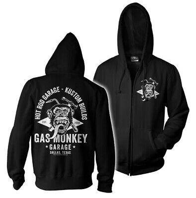 Black Officially Licensed Gas Monkey Garage Big Piston Sweatshirt S-XXL Sizes