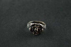 100% De Qualité Vintage Sterling Silver Rose Dome Ring - 3.6 G-afficher Le Titre D'origine