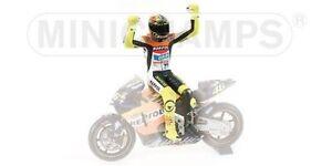 1:12 Minichamps Valentino Rossi Figure Figurine Champion du Monde Moto GP 2002 Nouveau