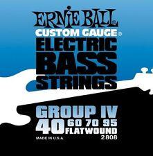 ERNIE BALL 2808 GESCHLIFFENE E-BASS SAITEN 40 - 95 FLACHE WUNDE
