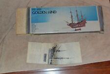 VINTAGE   GOLDEN HIND fremont CA94538 ship model kit wooden