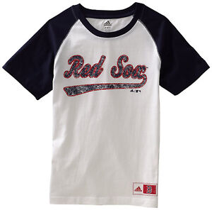finest selection c9c2a d78a7 Details about NEW! (Youth Boys Kids M10-12) ADIDAS MLB Boston Red Sox Shirt