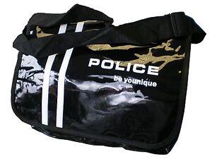 NEW-POLICE-SUNGLASSES-RARE-MESSENGER-BAG-BLACK