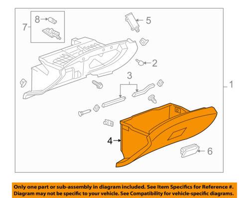 Chevrolet GM OEM 12-15 Cruze-Dash Glove Compartment Box Door 95051966