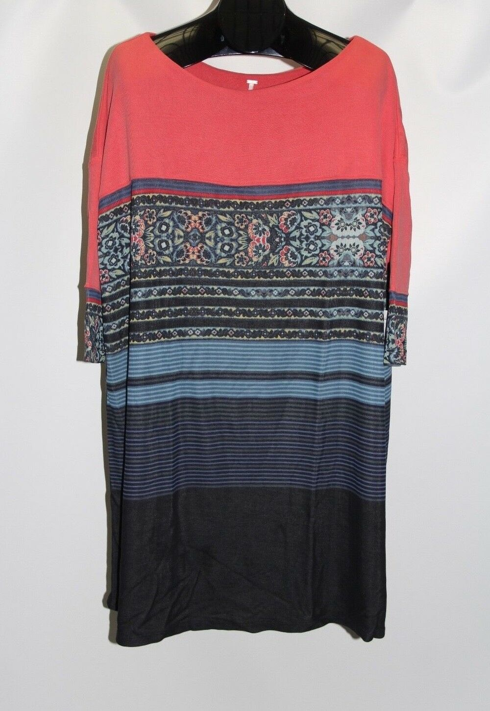 New Free People Women's Size Medium Steppin Out Printed Shift Dress