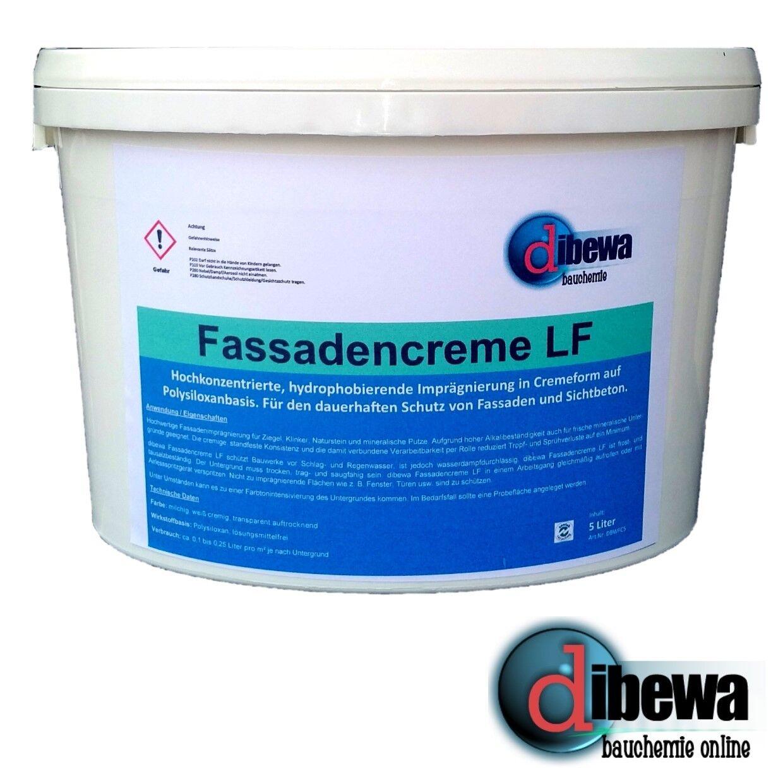 Dibewa Fassadencreme LF Hydrophobierung   Imprägnierung   Fassadenschutz 5 Liter