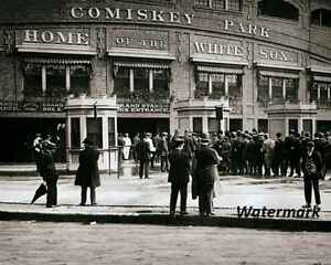 MLB-1910-Chicago-White-Sox-Old-Comiskey-Park-Black-amp-White-8-X-10-Photo-Picture