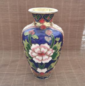 Chinese Exquisite Handmade copper Cloisonne Enamel Vase