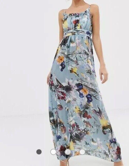 B158Little Mistress Maxi Dress In Floral Print Size UK12 RRP