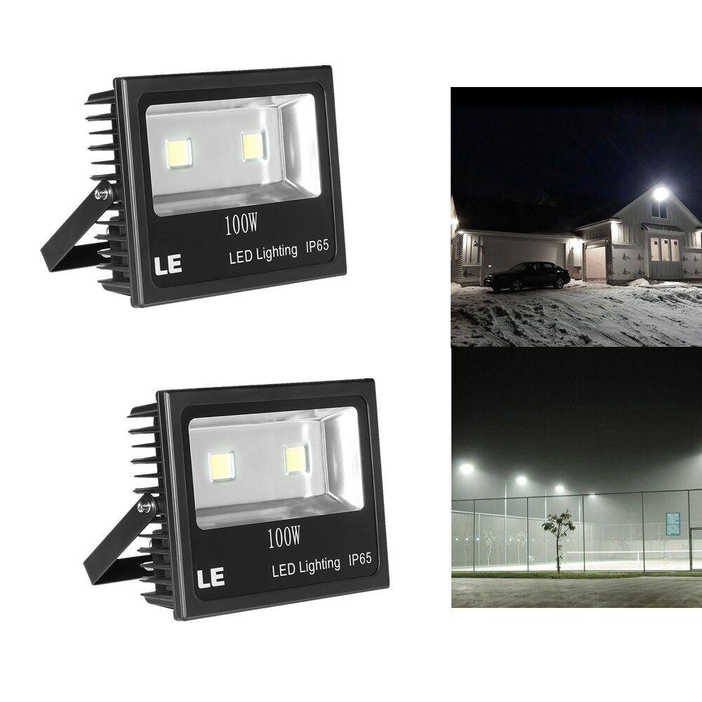 2er 100W LED Strahler, 10150lm Fluter, Außenleuchten Wasserdicht IP65, Kaltweiß | Verschiedene Arten und Stile  | Smart  | Hat einen langen Ruf