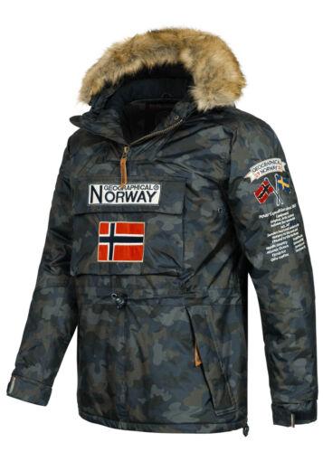 Wr195h//gn Geographical Norway Hommes Veste Capuche Windbreaker Half-Zip Parka