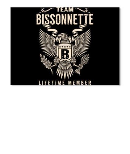 Details about  /Team Bissonnette Lifetime Member Sticker Landscape
