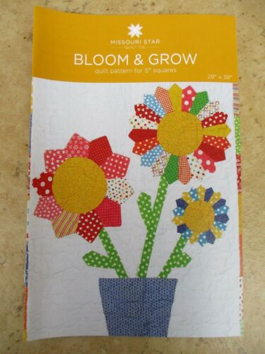 """10/"""" Tumbler Template /& Bloom/&Grow Charm Pack Pattern Missouri Star Quilt Co New"""